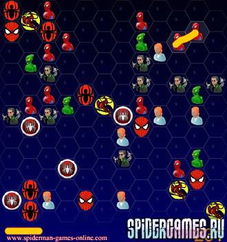 Раскраска человека паука и его героев